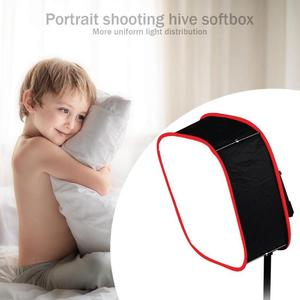 Image 4 - Portable Collapsible Softbox 4*4*2cm for Yongnuo YN600 YN900 LED Light Panel Portable Lighting Modifier for Photo Studio Softbox