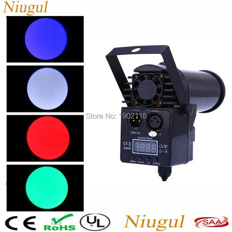 High quality With DMX512 Mini 10W RGBW 4in1 Led Pinspot Spotlights Disco Spot DMX Luces Discotic Beam DJ Stage Party Show Light niugul dmx stage light mini 10w led spot moving head light led patterns lamp dj disco lighting 10w led gobo lights chandelier