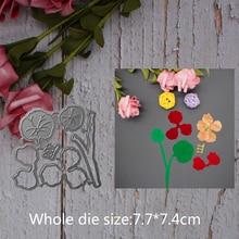 leaf leaves Lotus flower Metal steel frames Cutting Dies DIY Scrap booking Photo Album Embossing paper Cards7.7*7.4cm