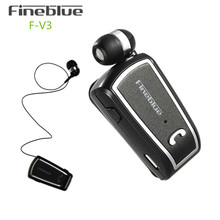 Fineblue F-V3 Wireless Headset Stereo Mini Earphones Bluetooth V4.0 Headset with Clips Sport Runnig Earbuds for Phone Driver