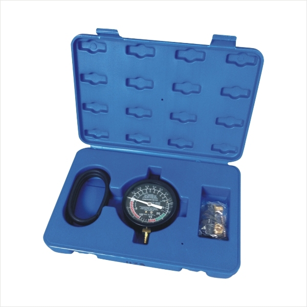 Auto Fuel Pump Vacuum Pressure Tester Diagnostic Gauge Set Repair Test Tool