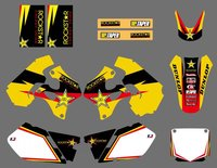 0424 STAR Yellow & White TEAM DECALS STICKERS Graphics For Suzuki RM125 RM250 1996 1997 1998 RM 125 250