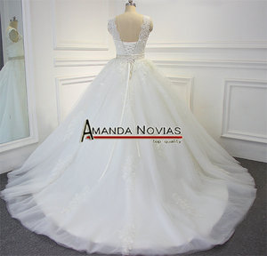 Image 4 - Impresionante vestido de novia de alta calidad 2019 Amanda Novias 100% fotos actuales