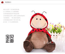 Super cute 1pc 35cm home decoration sweet plush beetles ladybird hold doll stuffed toy creative children baby gift