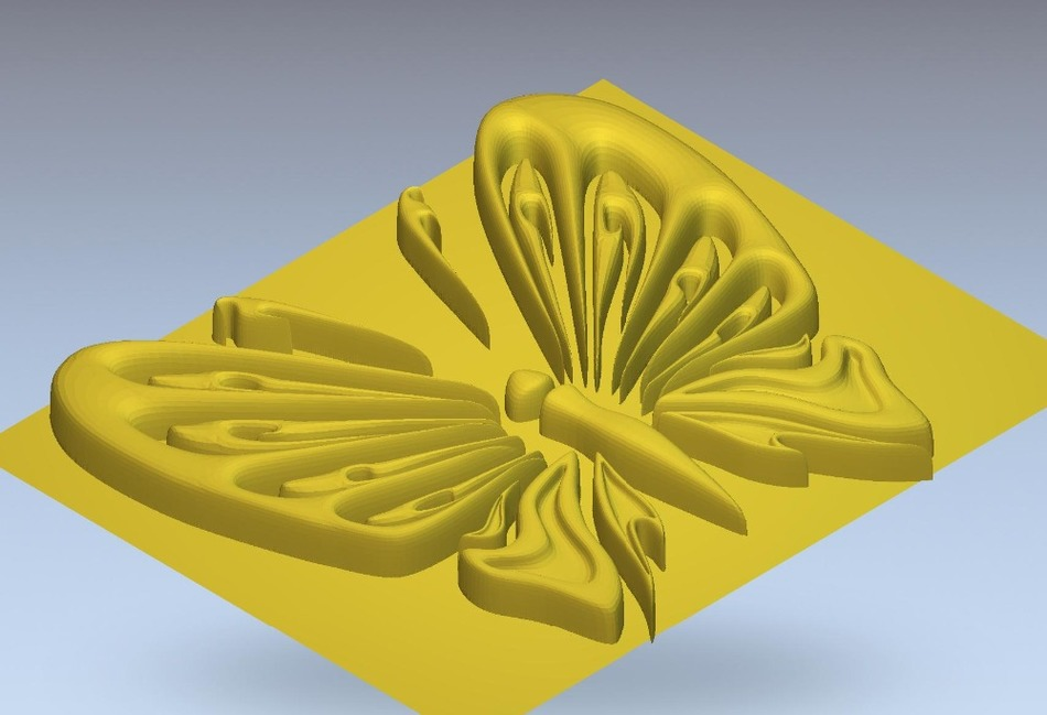 3d Model Relief  For Cnc In STL File Format Butterfly