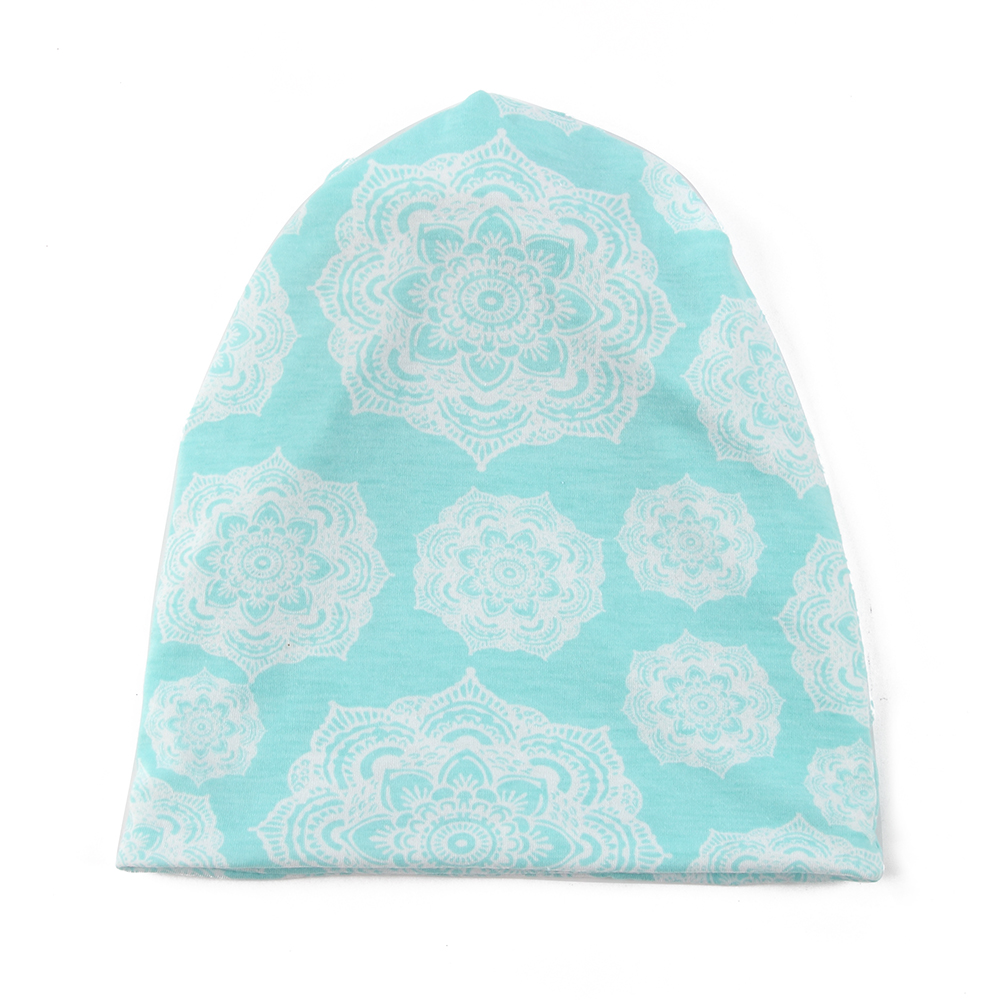 FOXMOTHER Fashion Summer Bohemia Jersey Vintage Tribe Floral Ponytail Beanies Hats Chemo Turban Skullies Gorros Woman