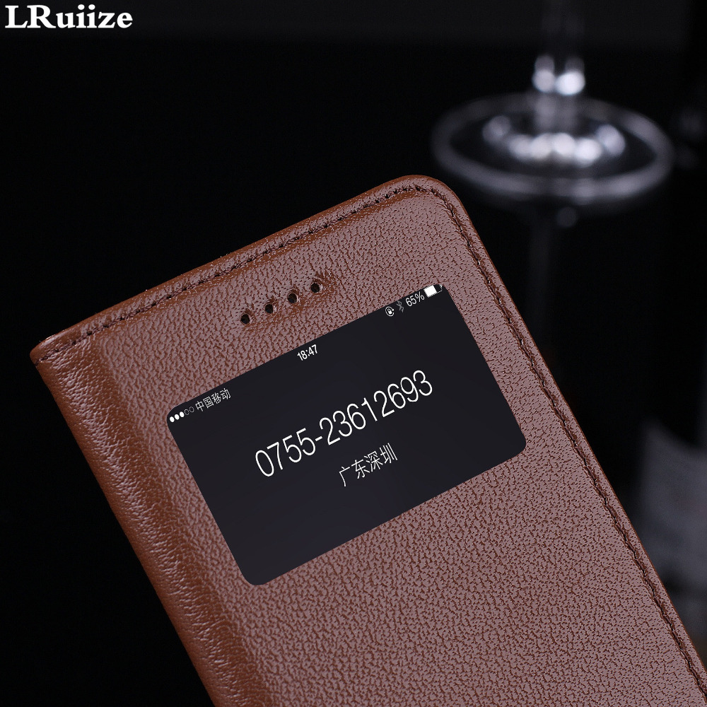 LRuiize iphone 6s 6 Plus Təbii Orijinal İnək Dəri Lüks Ultra - Cib telefonu aksesuarları və hissələri - Fotoqrafiya 3