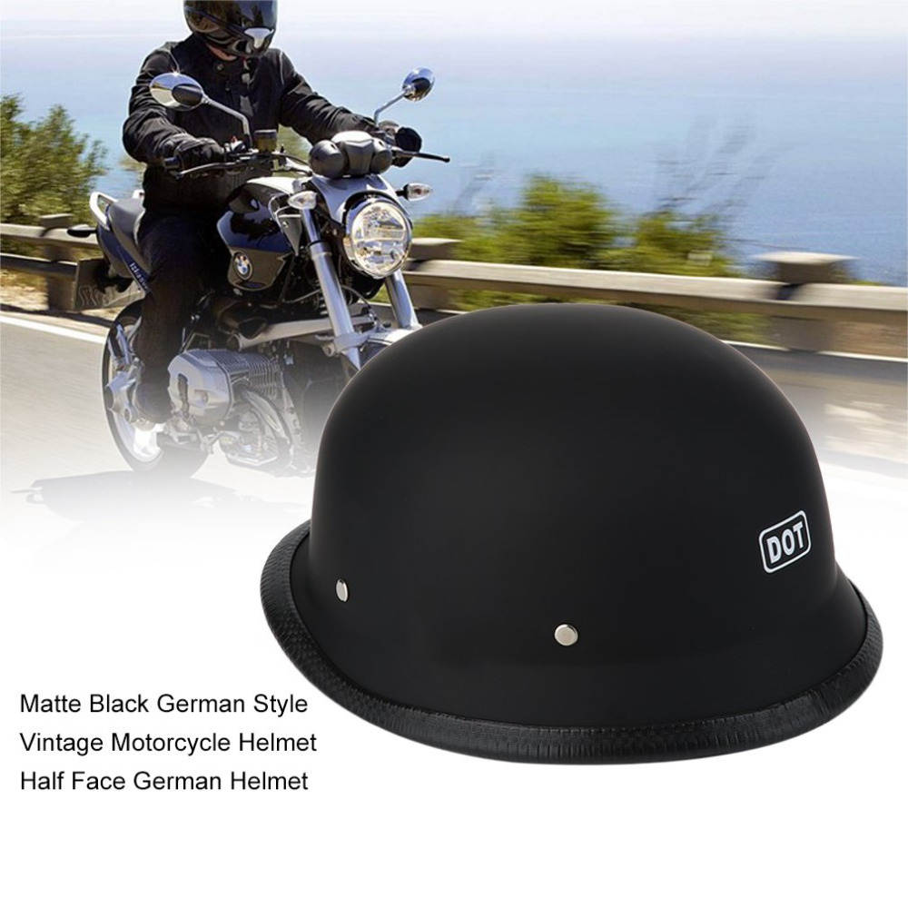 L/XL Electroplating Matte German Style Vintage Motorcycle Steel Helmet Durable Half Face German Helmet Motorcycle Helmet