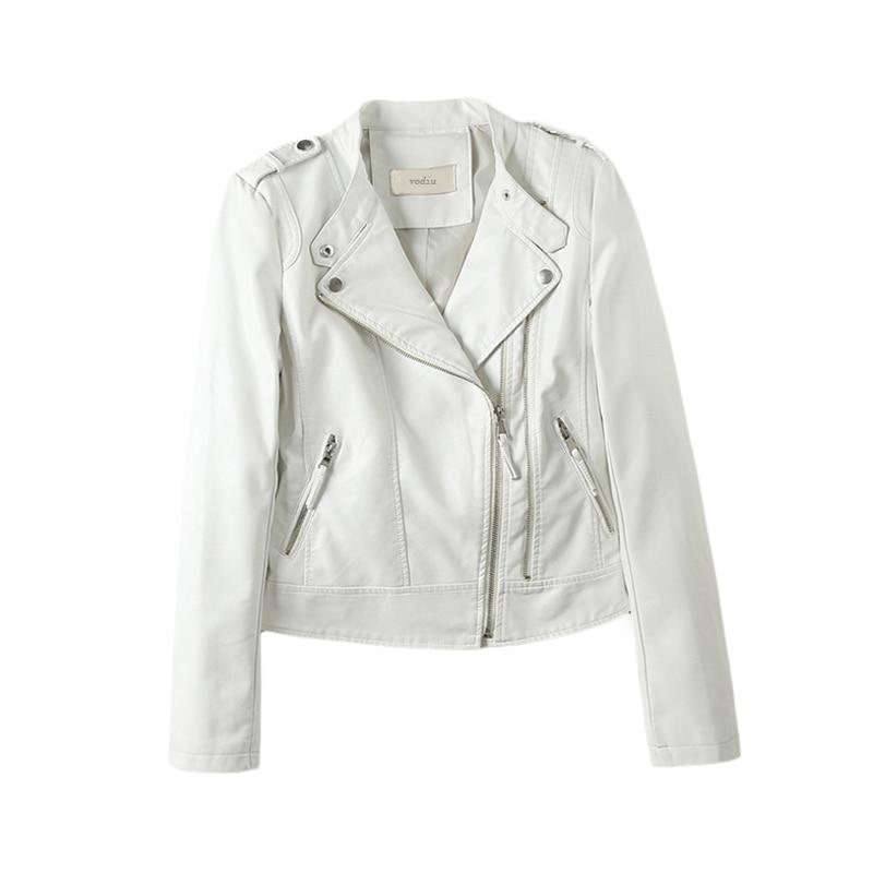 Vodiu Faux Leather Coat Women Leather Jacket Bomber Jacket Solid Epaulet Leather Jackets Female Zipper Autumn 2017 Outerwear Top