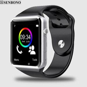 БЕСПЛАТНАЯ ДОСТАВКА A1 наручные часы Bluetooth Смарт часы Спорт Шагомер с сим-камерой Smartwatch для Android смартфон Россия T15