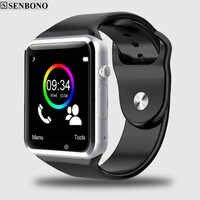Darmowa wysyłka A1 zegarek Bluetooth inteligentny zegarek Sport krokomierz z SIM smartwatch z aparatem na smartfon z androidem rosja T15