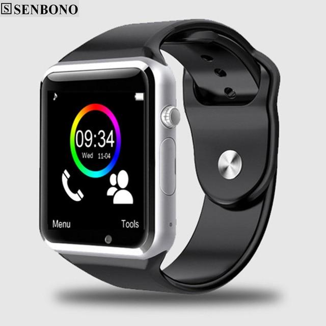 Frete Grátis A1 relógio de Pulso Bluetooth Relógio Inteligente Pedômetro Esporte com Câmera SIM Smartwatch Para Android Smartphones Rússia T15