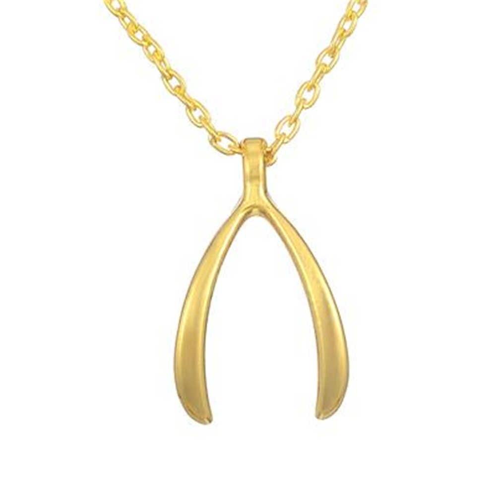 Mi forma Wishbone colgante collares para mujeres accesorios de joyería Chapado en plata para elegir gargantilla de declaración de aleación Znic