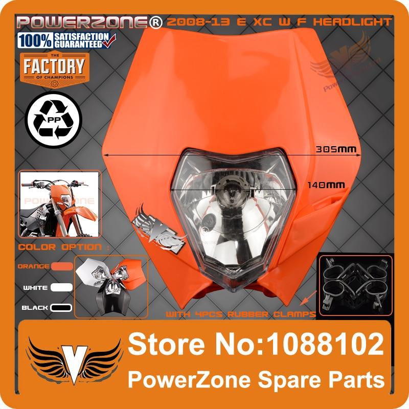 Universal Headlights Headlamp StreetFighter Motorcycle Dirt Bike Motocross Supermoto Duke SMR EXC SX XC F W 125 250 300 530 - PowerZone Co.,Ltd store