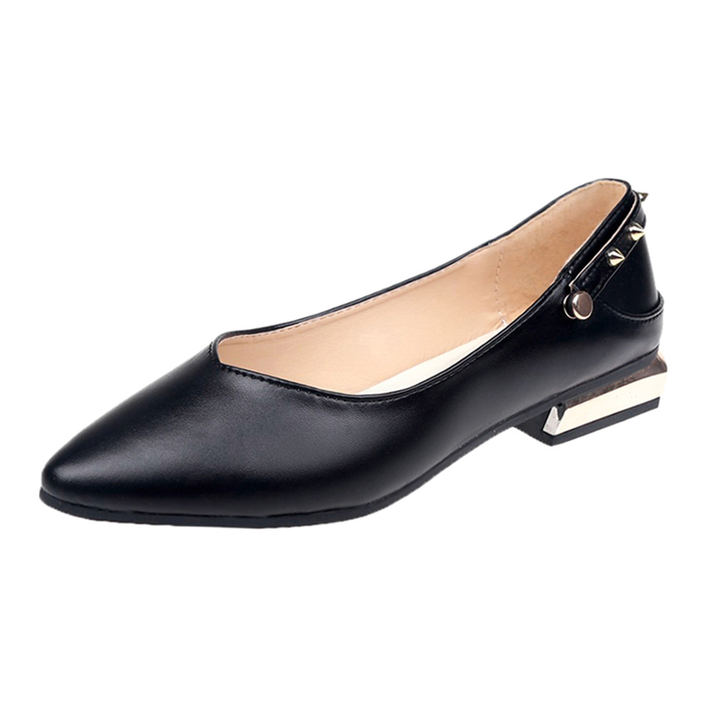 Simples Vintage Pompes Faible black Pu brown Soild Avec 18 D'été Rivet Sandales 7 De Beige Courroie Dec Talon Chaussures Occasionnels Sagace Couleur Femmes Pompe Cheville 0qpdnwq5