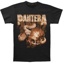 High Quality For Better Printed O-Neck Short-Sleeve  Rattler Skull Tee Men