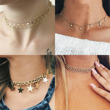 Tenande Punk Big Statement Cross Moon Anchor Peace Dove Stars Chain Necklaces Pendants for Women Charm Chain Jewelry Bijuterias vintage cross anchor sweater chain for women