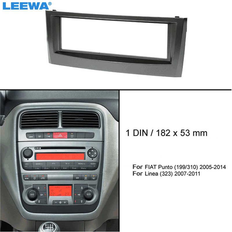 Wonderbaar LEEWA Car 1Din 183*53mm CD Radio Panel Fascia Frame For FIAT Punto UP-72