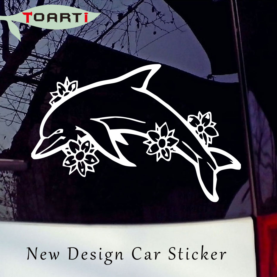 Popular Dolphin Car DecalsBuy Cheap Dolphin Car Decals Lots From - Modern car sticker decal