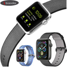 Strap for Apple Watch 44 mm apple watch band 4 iwatch band 42mm 38mm 40mm Fabric Nylon classic buckle Bracelet belt Accessories(China)