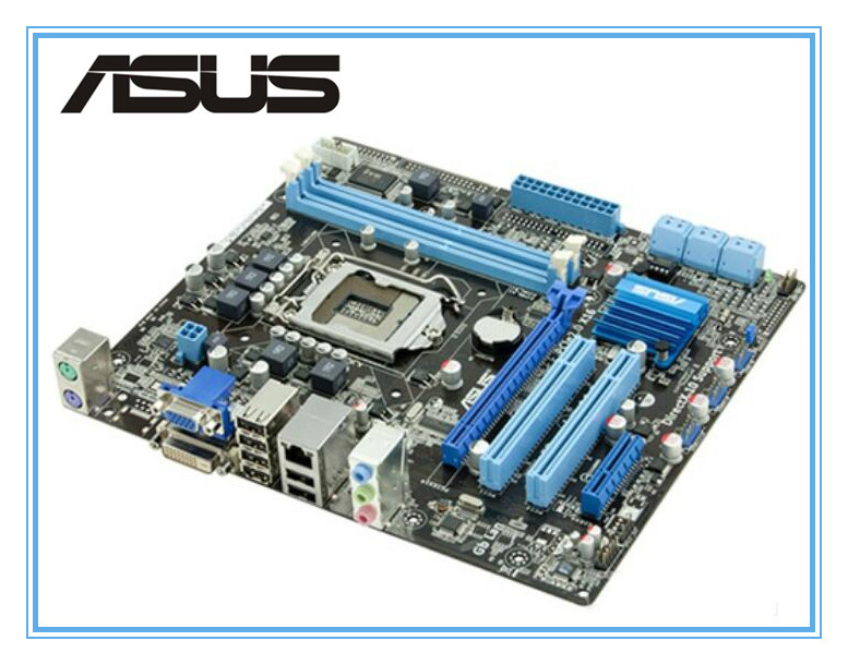 100% original ASUS motherboard P7H55-M PLUS LGA 1156 DDR3 8GB support I3 I5 I7 H55 Desktop motherboard uATX mainboard original motherboard asus p7h55 m socket lga 1156 ddr3 h55 16gb for i3 i5 i7 cpu desktop motherboard free shipping