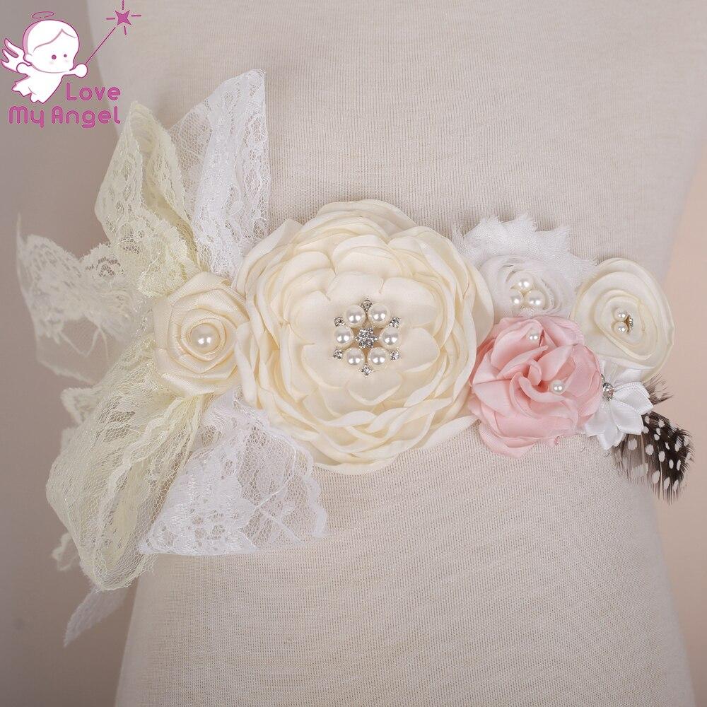 Mädchen Kleidung Grau Blume Gürtel Satin Bänder Strass Blume Schärpe Gürtel Kinder Hochzeit Blume Mädchen Gürtel Brautjungfer Mutterschaft Schärpe Zubehör