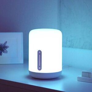 Image 4 - مصباح شاومي Mijia بجانب السرير 2 مصباح ذكي للتحكم في الصوت مفتاح لمس Mi تطبيق منزلي لمبة Led لأبل Homekit Siri و xiaoai ساعة