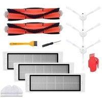 Accesorios para Xiaomi Robot aspirador Mijia/Roborock paquete de 3 filtros Hepa  2 cepillos principales  1 herramienta de limpieza  3 Cepillo Lateral|Piezas de aspiradora|   -