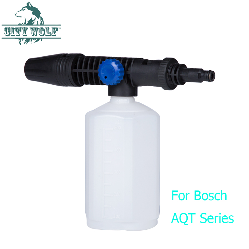 City Wolf car washer brass snow foam lance foam cannon soap bottle for Bosch Old models high pressure washer