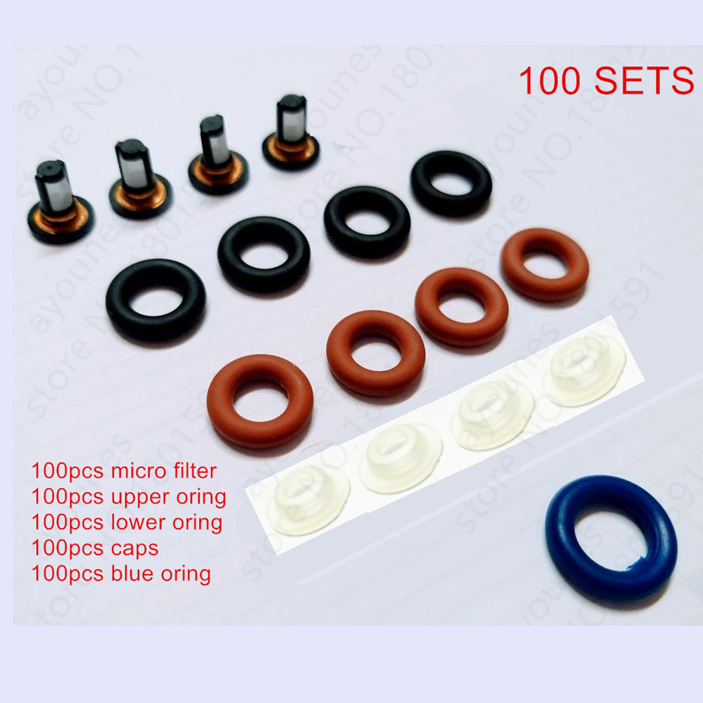 100sets Cold Start Fuel Injector Repair Kits For Honda Engines Replacement Service Kits For AY RK200CS