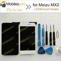 ЖК-Экран для Meizu MX2 100% Новый Высокое Качество Замена Аксессуары ЖК-Дисплей + Сенсорный Экран для Meizu MX2