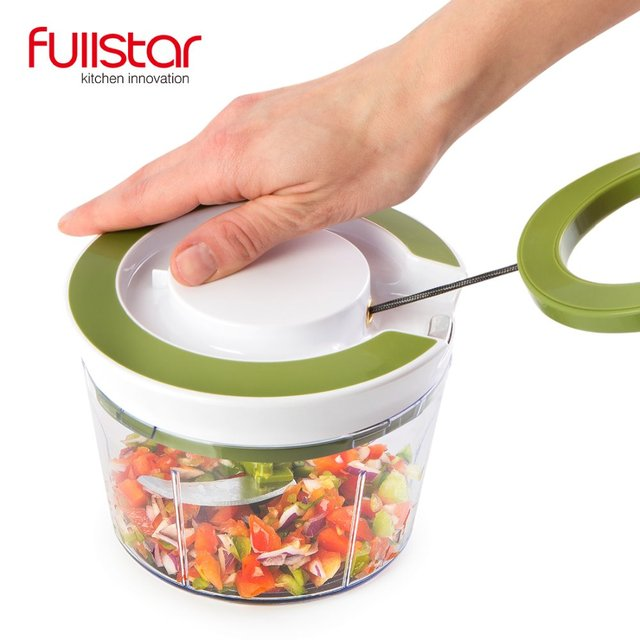 Quick Pull String Food Chopper Spiral Slicer Powerful Manual Hand Held Chooper/Mixer/Blender 1