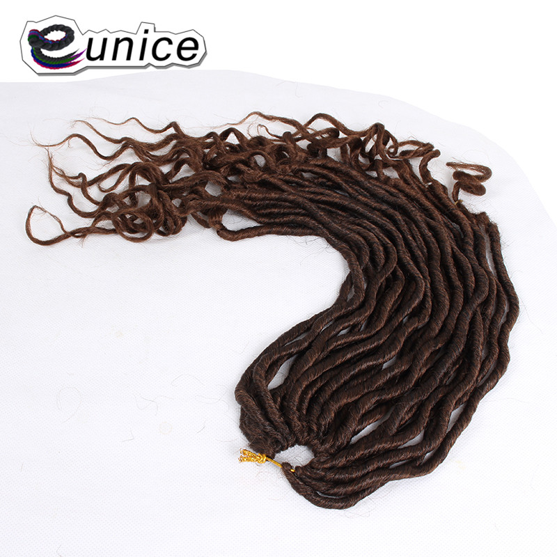 Faux Locs Curly Heat Resistant Synthetic Hair Extensions (52)