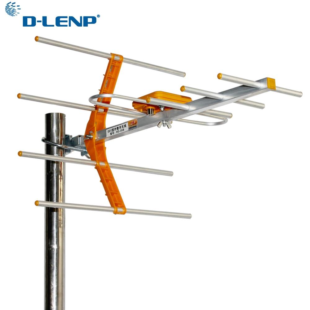 Dlenp HD Digital Outdoor TV Antenna DVB T/T2 470MHz-860MHz Outdoor TV Antennas Digital Amplified HDTV Antenna High Gain Strong