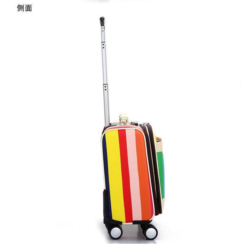 2016 Cheap Men Women Small Travel Luggage 16 Inch Valise PU ...