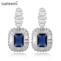 Teemi High Quality Luxury Brass CZ Jewelry Fashion Heavy Lady Bridal Pendant Earring Wholesale In Stock