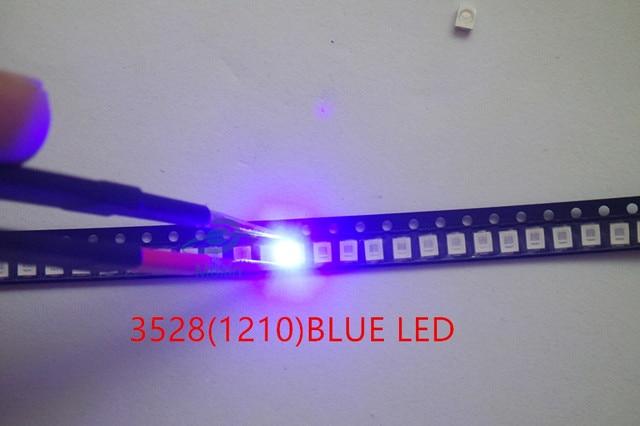 100pcs/lot 1210 3528 blue led SMD Ultra Bright Blue Light Diode 470-475NM 3.0-3.6V Chip led lamp high lighting