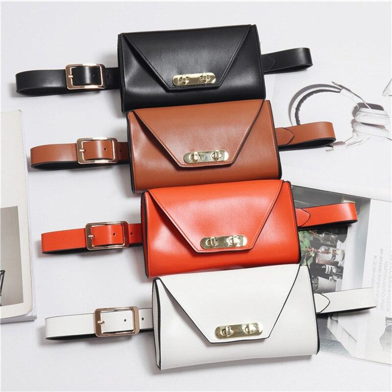 Mihaivina  Women Belt Bag Leather Fanny Pack Black Luxury Waist Bags Fashion Female Waist Pack Phone Bag Shoulder Bag Hip Hop