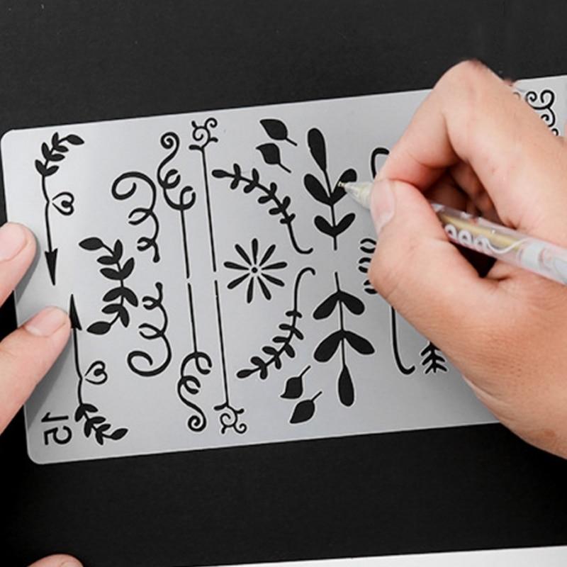 20 Patterns To Choose Different Painting Stencil DIY Home  Planner Scrapbooking Album Craft Art