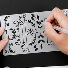 20 Patronen Te Kiezen Verschillende Schilderen Stencil Diy Home Planner Scrapbooking Album Craft Art(China)