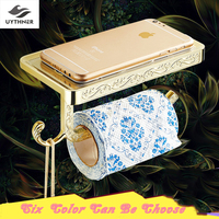 Uythner Free Shipping Vintage Euro Six Color Bathroom Toilet Paper Holder Wall Mounted