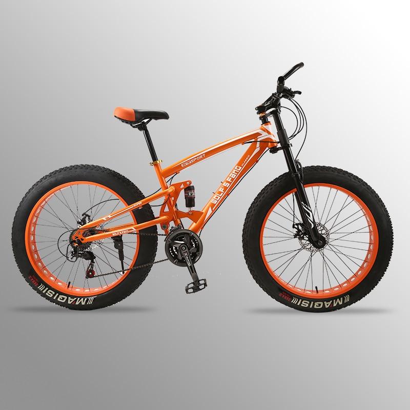 Vol Leopard vélo graisse vélo 26 X 4.0 VTT 24 vitesse graisse Vélo De route vélos Avant et Arrière Mécanique frein à disque
