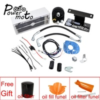 Motorcycle Black Chrome Engine Oil Cooler Kit For Harley Touring Road King Street Glide Road Glide FLHX FLHR FLTR 1999 2016