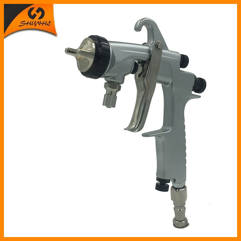 SAT0001AB automatic airbrush stainless steel nozzle spray gun high pressure air paint brush air spray paint gun for chrome paint spray gun 1 5mm nozzle gravity 400ml cup stainless steel high pressure painting gun
