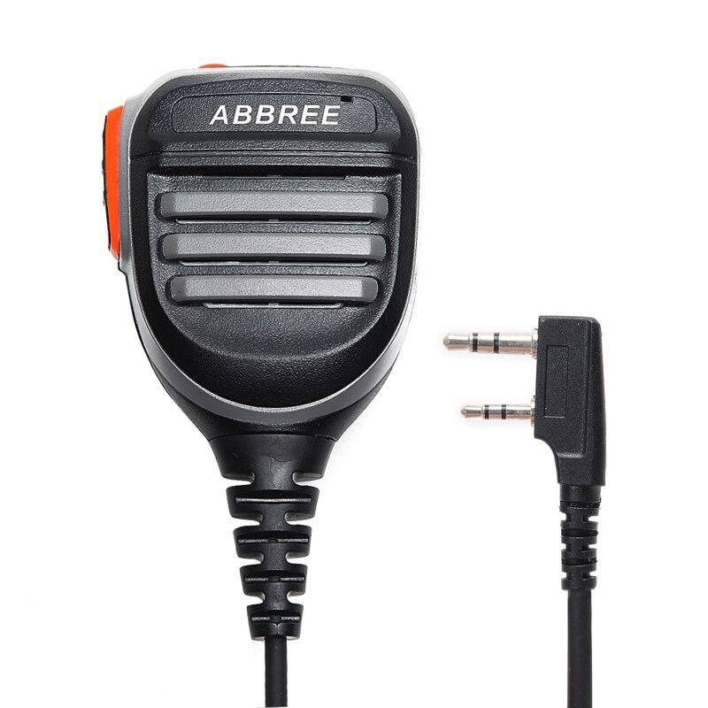 ABBREE 2 Pin PTT Étanche Haut-Parleur MIC Accessoires Pour Kenwood TYT Pofung De Poche UV-5r UV-82 Bf-888s Bf 888 s UV-5R microphone