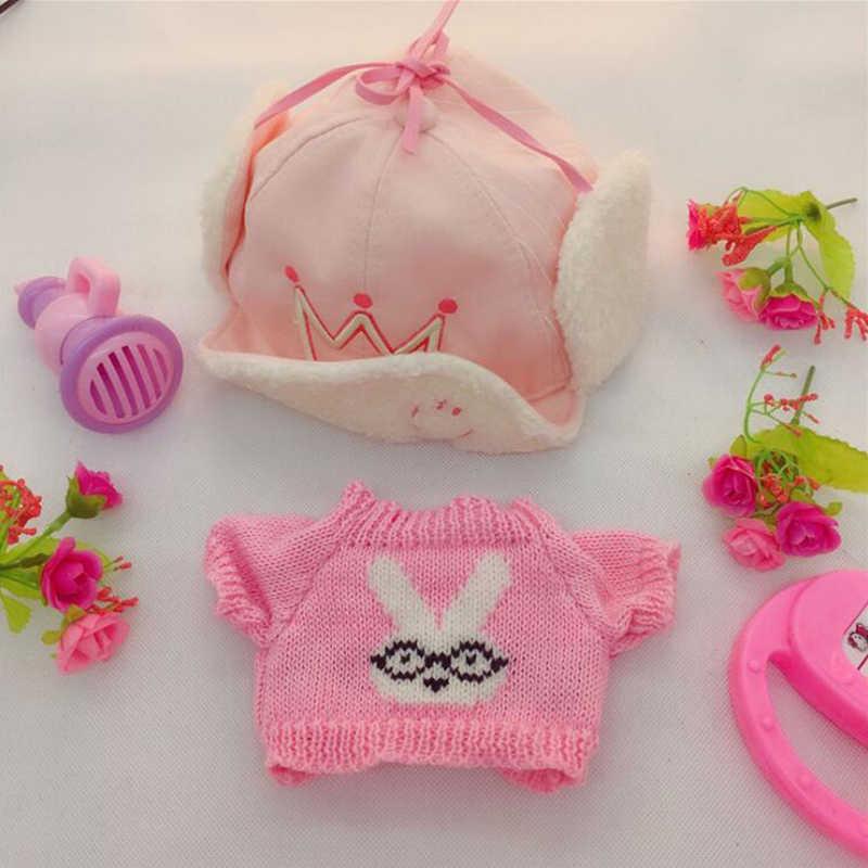 30cm Cafe Mimi żółta kaczka pluszowe zabawki wypchane ubrania dla zwierząt kapelusze pluszowe akcesoria urodziny GiftsToys dla dziewczynek