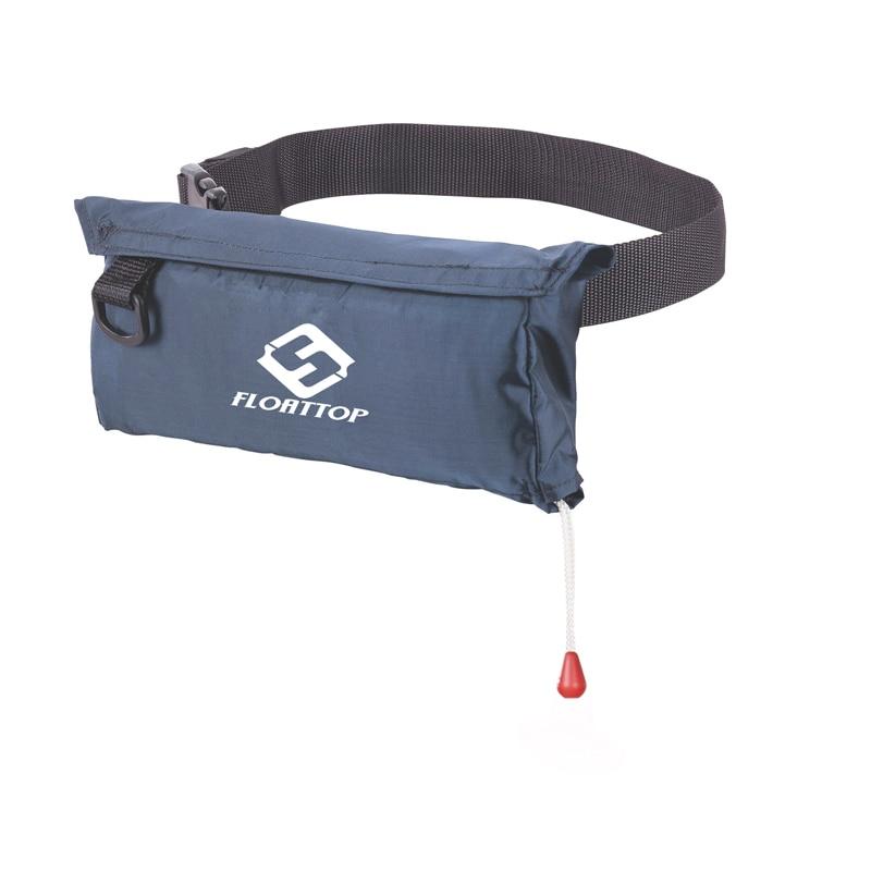 FLOATTOP Compact Belt Pack Bumbag Inflatable Life Jacket Life Vest Level 150 Navy Blue - Without 33gram Cylinder