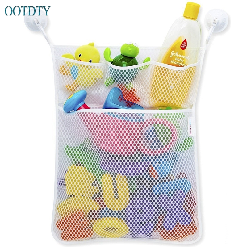 1PC Baby Kids Bathroom Bathtub Toy Mesh Net Bag Organizer Holder Stuff Tidy #330 ...