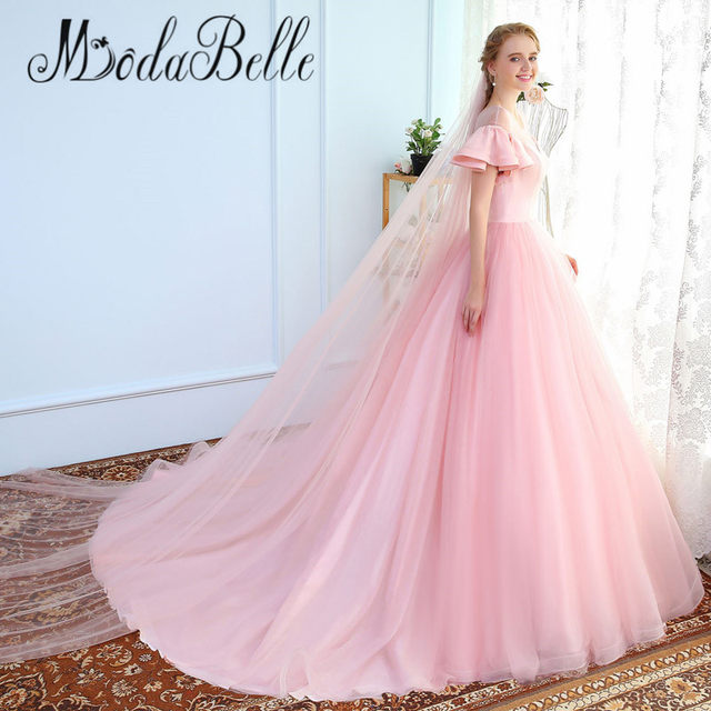 Online Shop modabelle Long Tulle Evening Dresses Woman Pink Ball ...