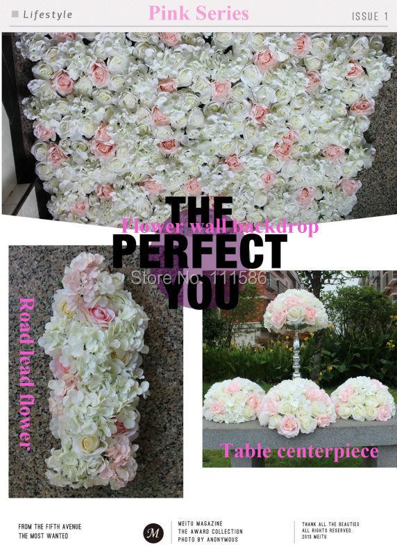 SPR Pink serie konstgjorda bröllop blomma vägg bakgrund dekoration - Semester och fester